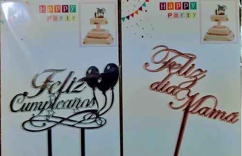 Imagen 1 de 4 de Cake Topper Acrílico,decoración Para Tortas,cumpleaños!