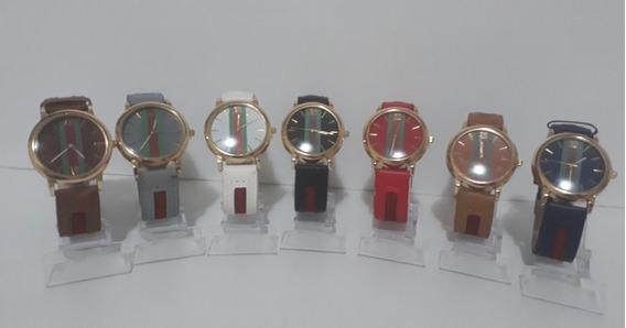 Kit Com 10 Relógios Feminino De Couro Atacado Lote Revenda