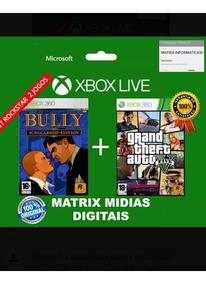 Gta 5 + Bully Xbox 360 Mídia Digital .