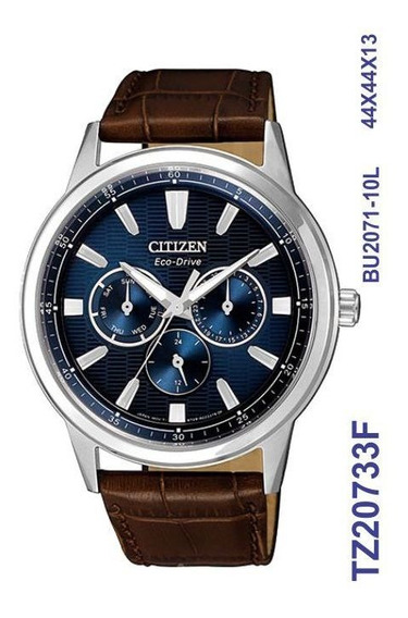 Relogio Masculino Citizen Eco-drive Couro Tz20733f