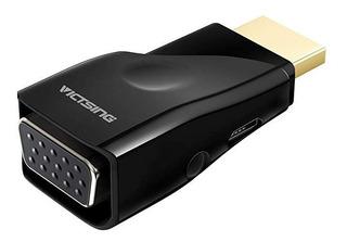 Victsing Adaptador Conversor Hdmi A Vga + Mirco Usb Cable Ca