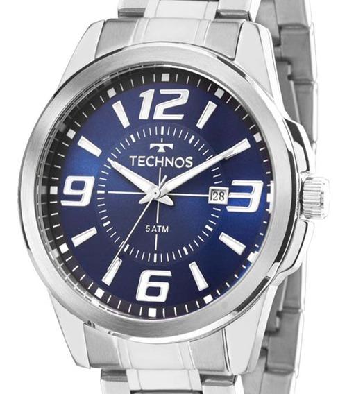 Relógio Technos Masculino Prateado 2115kzz/1a C/ N. Fiscal