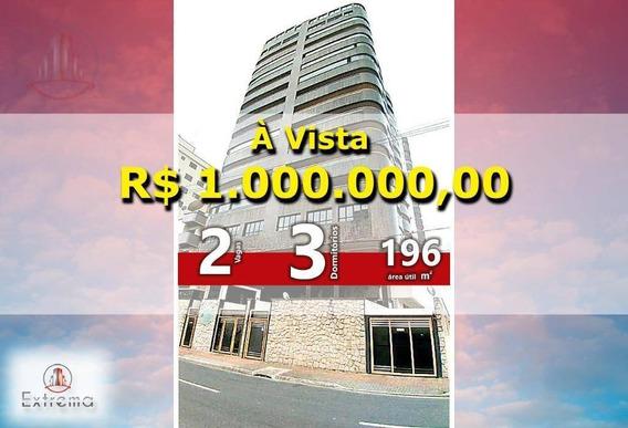 Cobertura Com 3 Dormitórios À Venda, 196 M² Por R$ 1.000.000,00 - Vila Guilhermina - Praia Grande/sp - Co0008