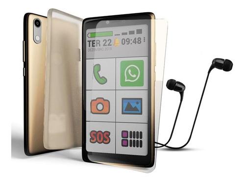 Obasmart 3 Gold Obabox Smartphone Para A Terceira Idade