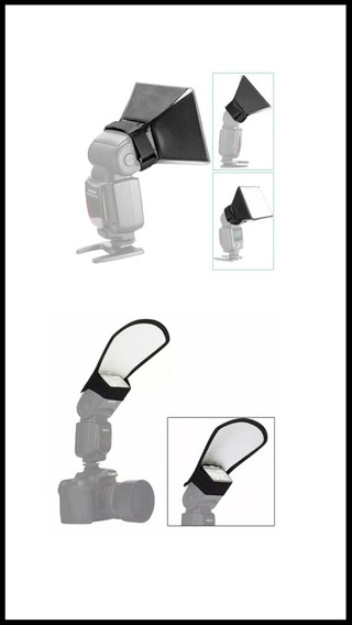 Kit Flash Profissional - Difusor E Rebatedor Universal