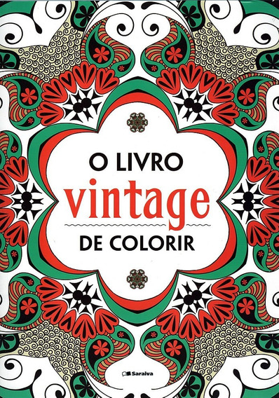 Vintage Livro Colorir Idéias E Moldes Pintar Bordar Estampar
