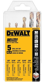 Set De Brocas Con 5 Pcs Multimaterial Dwa56015 Dewalt