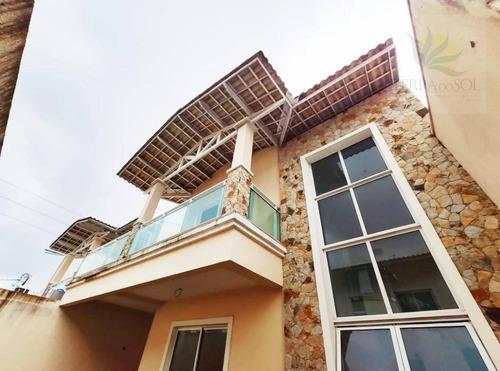 Casa Com 4 Dormitórios À Venda, 160 M² Por R$ 489.000,00 - Lagoa Redonda - Fortaleza/ce - Ca1023