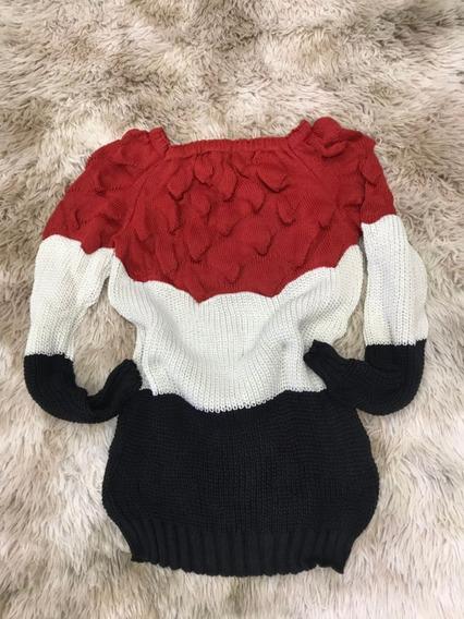 Blusa Feminina Frio Tricô Suéter Colorida 3d Da Moda Inverno