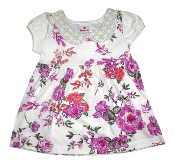 Vestido Brandili Floral - Bebês Até 1 Ano