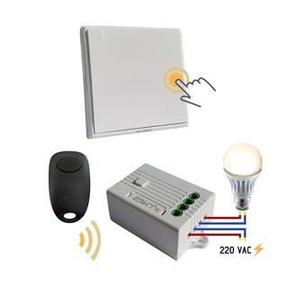 Kit Llave De Luz Un Punto + Control Remoto + Controlador