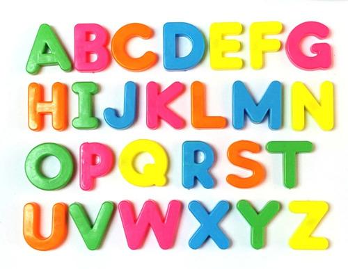 Set De Números Y Letras En Imán Magnéticos Para Niños