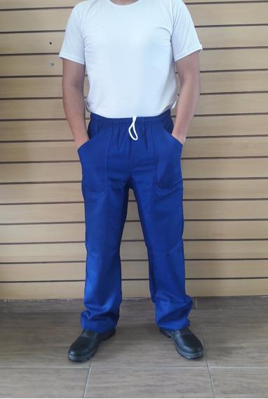 Calça Em Brim Uniforme Profissional Azul Royal