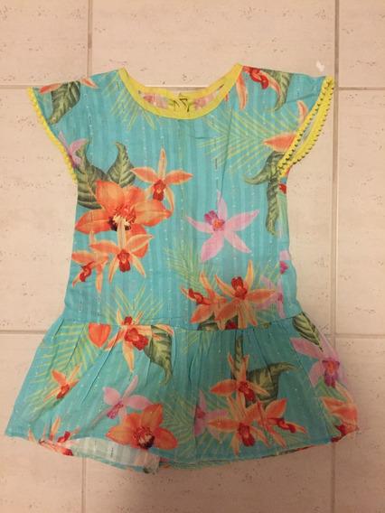 Vestido Floral Infantil - 2 Anos