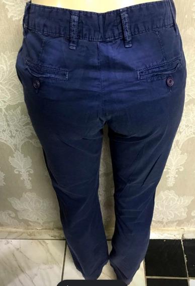 Calça Zara, Azul, Fashion,tamanho 36