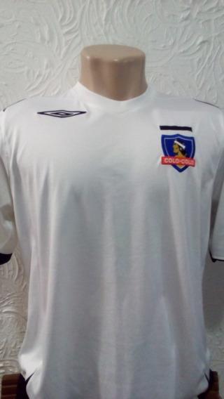 Camisa Colo Colo Oficial Umbro G 2007 Chile Time Branca Dri