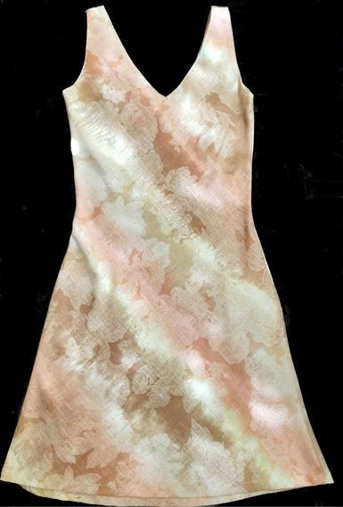 Vestido Al Bies Impecable Pinzas Atrás Solange Jin T.2 Fresc