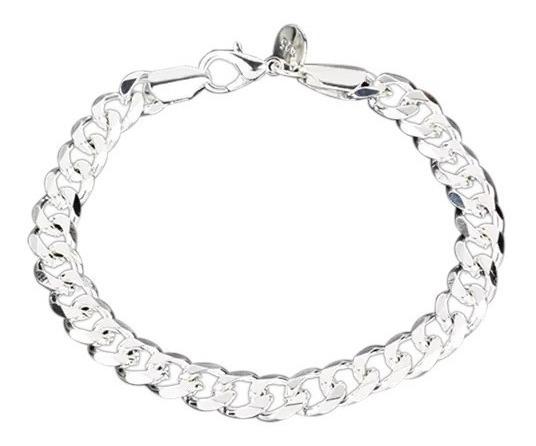 Bracelete De Alumínio Com Ligação - Prateado