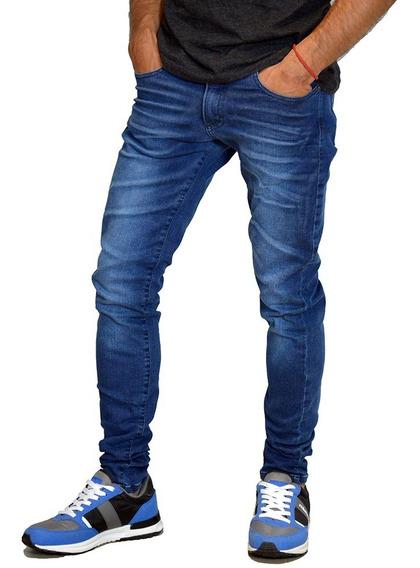 Jean Slim Fit Elastizado Moda Hombre Mistral 15104