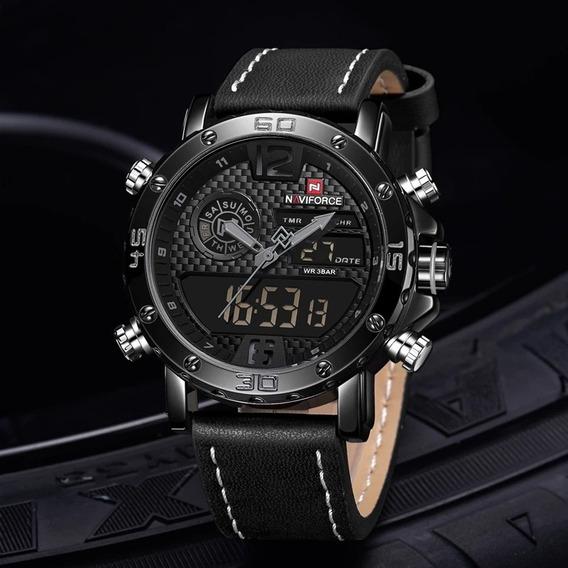 Relógio Masculino Esporte Racer Militar Naviforce 9134 Top