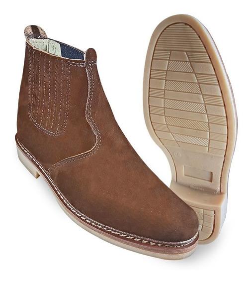 Botina Bota Country Masculina 100% Couro Butina Sapato Boot