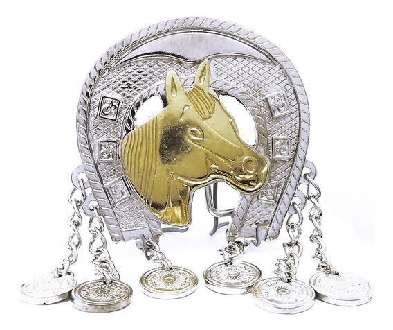Fivela Country Feminina Cowgirl Cavalo Para Cinto