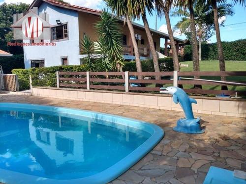 Imagem 1 de 28 de Linda Chácara Com 03 Dormitórios, Sendo 02 Suítes, Piscina, Próximo Ao Asfalto, À Venda, 1950 M² Por R$ 485.000 - Zona Rural - Pinhalzinho/sp - Ch0925