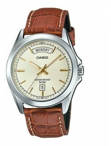 Relógio Casio Mtp-1370l-9a Pulseira De Couro