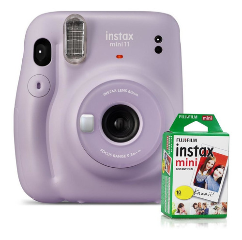 Câmera Instax Mini 11 Lilás + Filme P/ 10 Fotos- Fujifilm