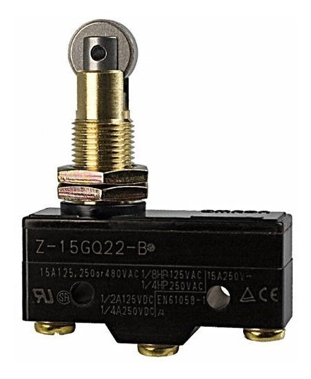 Chave Fim De Curso Micro Switch Z-15gq22-b Roldana 15a 250v