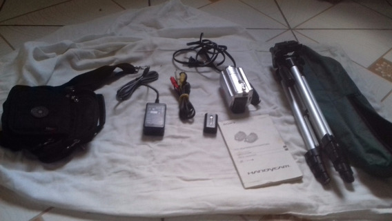 Filmadora Sony Dcr Sr 68 Semi Nova Com Tripé E Bateria Extra