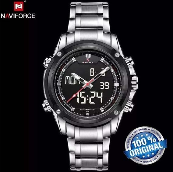 Relógio Naviforce 9050 Analógico E Digital Esporte Original