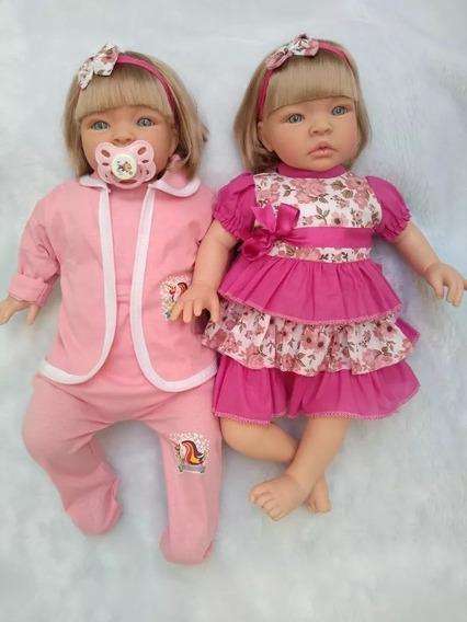 2 Bonecas Tipo Reborn Realista Lindo Gêmeos Super Barato Lol