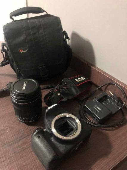 Câmera Canon Eos Rebel T4i + Lente 18-135mm Semi Nova