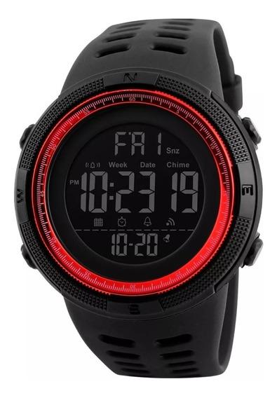 Reloj Depostivo Skmei 1251, Rojo, Contra Agua 50m
