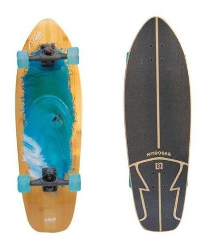Simulador De Surf Skate Carlos Burle Tahiti 32`x10` Nitrosk8