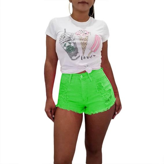 Nova Moda Mulheres Casual Bolso Botão De Cintura Alta Abras