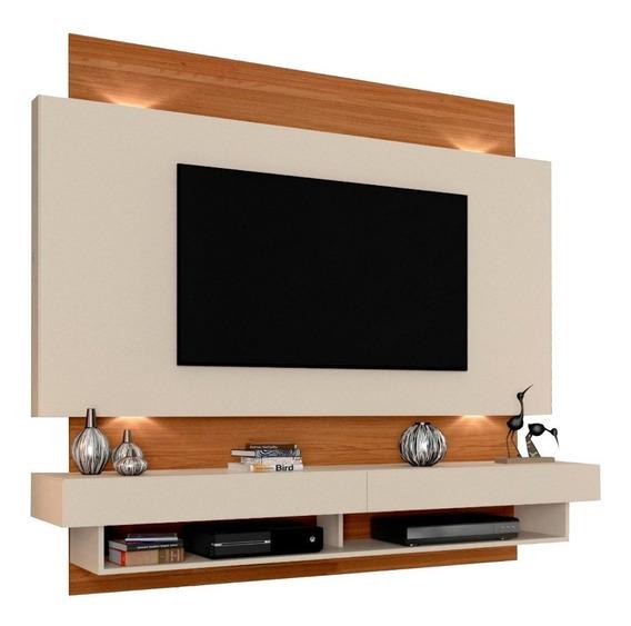 Painel Para Tv Com Led - Nobre/off White 100% Mdf