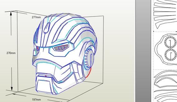 Plano Mascara Iron Man Godkiller