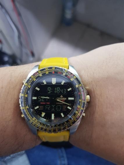 Relógio Citizen C460 Wingman Serie Ouro