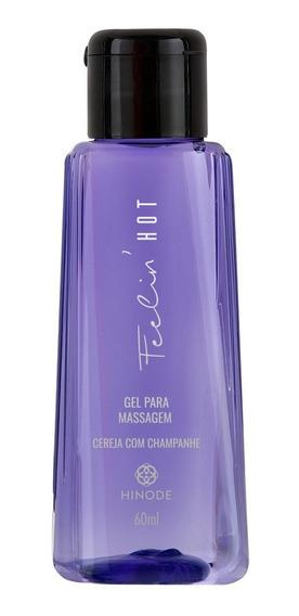 Gel Massagem Feelin Hot Cereja Com Champanhe Hinode 60ml