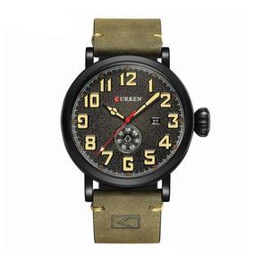 Relógio Masculino Curren 8283 Preto E Verde C/ Garantia E Nf
