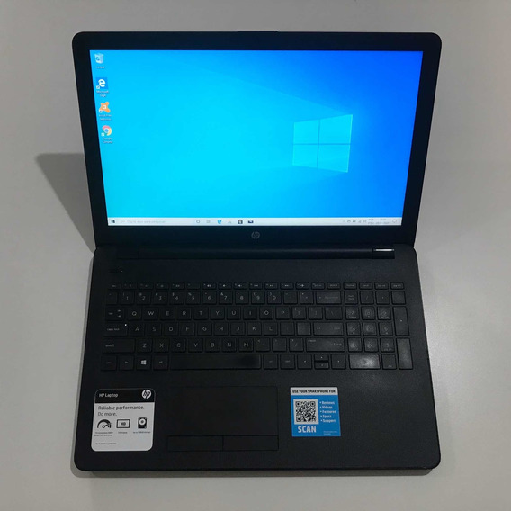 Notebook Hp 15.6 Polegadas Windows 10 4 Gb Ram Ssd 128 Gb