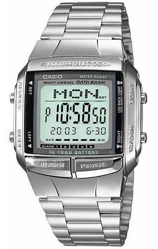 Relógio Casio Data Bank Prata Unissex Db-360-1adf