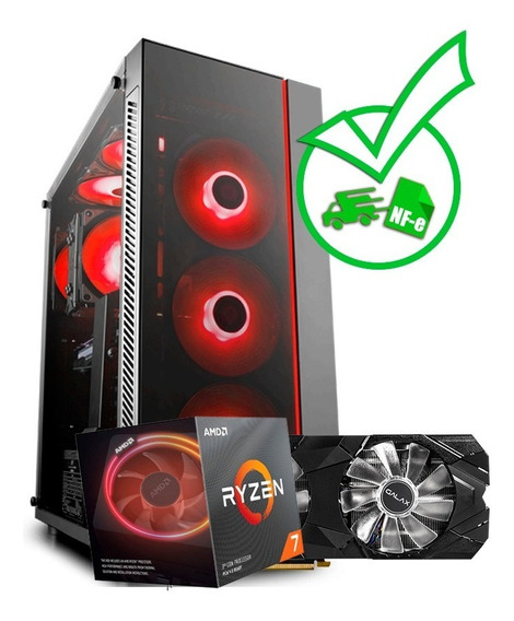 Computador Gamer Ryzen 7 3800x + Rtx 2070 8gb + Ssd + Hd +nf