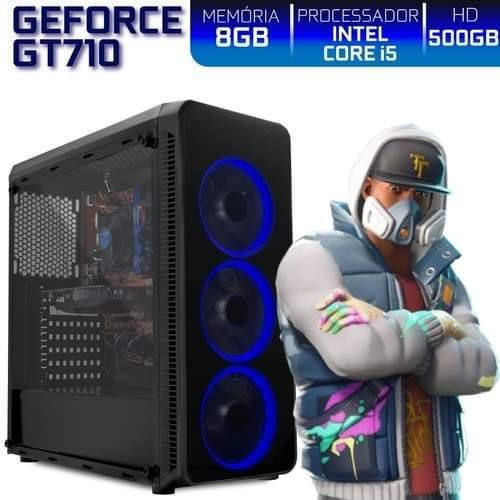 Pc Gamer I5 8gb 500gb Gt710 4gb Fortnite Free Fire Ets