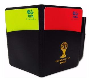 Tarjetas Arbitro Juez Futbol Con Estuche Y Lapiz - Fifa