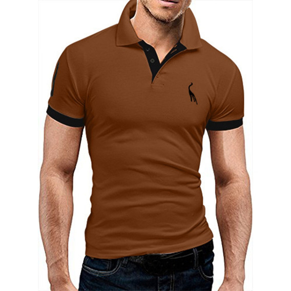 Hombres Corto Manga Casual Polo Camisas T Camisa Tee Tops