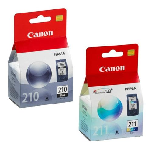 Cartuchos Canon Originales. Pg210 - Cl211. Negro Y Color