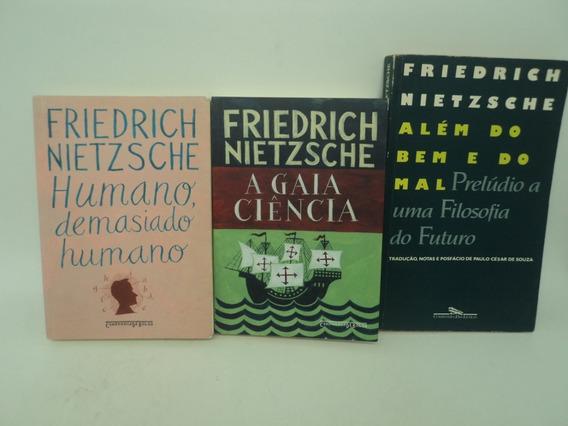 3 Livros Além Do Bem Do Mal Gaia Ciência Humano Demasiado